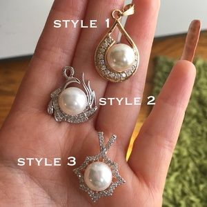 🆕 Assorted Pearl Gold & Silver Jewelry Pendant